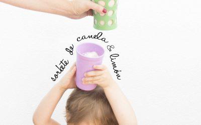 Refrescos saludables aptos para niños: sorbete de canela y limón