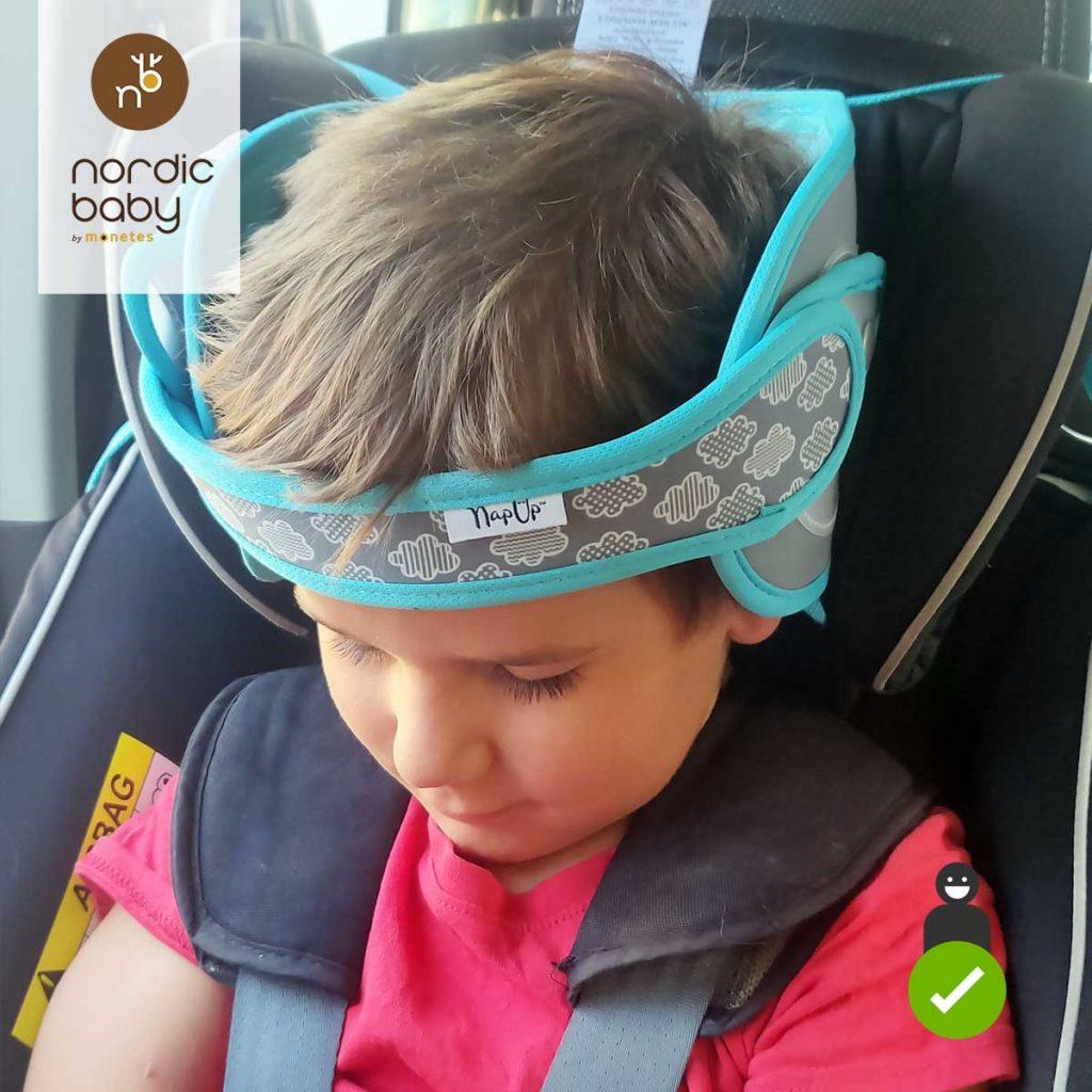 Sujeta cabezas Nap Up usado en una silla a contramarcha Klippan Century