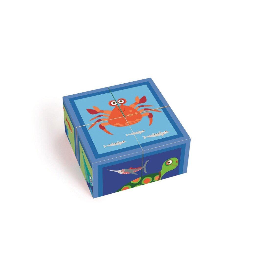 Puzzle Ocean 4 Blocks Cartón Scratch