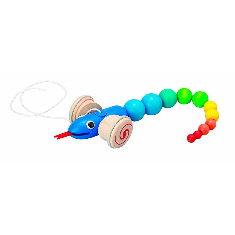 Arrastra la serpiente Plan Toys