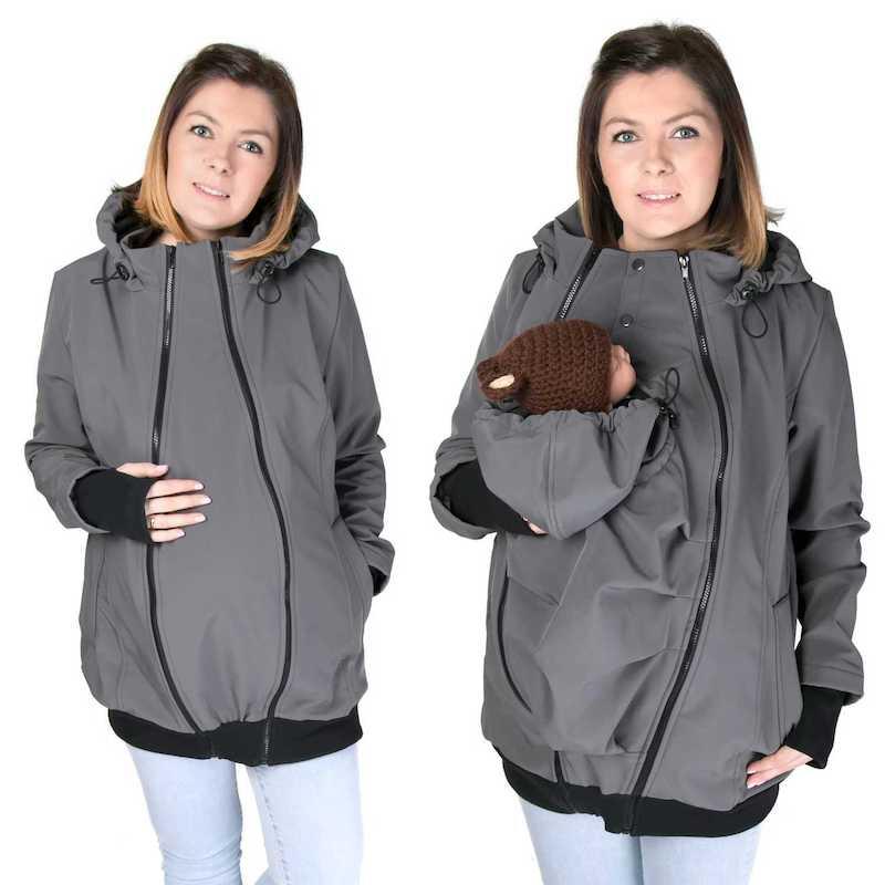 Abrigo de porteo y embarazo Everest 5 en 1. Softshell - varios colores -