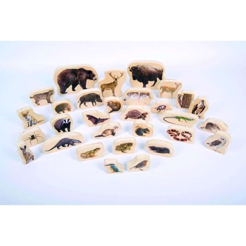Bloques de madera con animales, TickIt