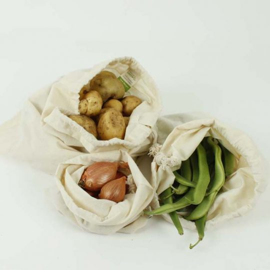 Bolsas de algodón reutilizable - pack de 3-
