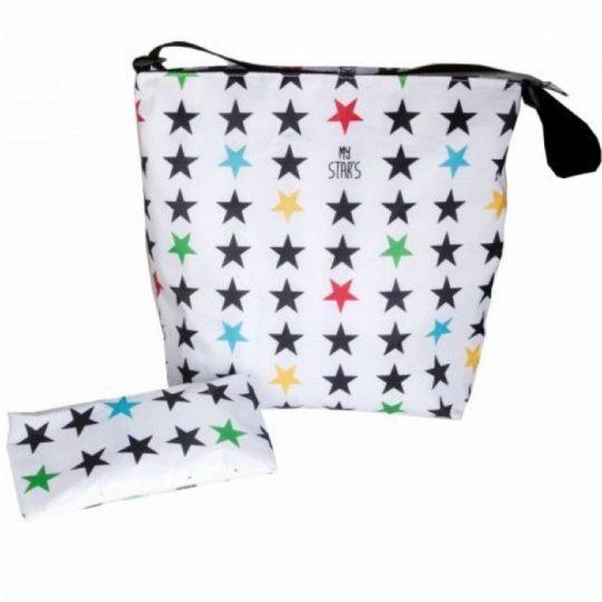 Bolsa carrito Stars White