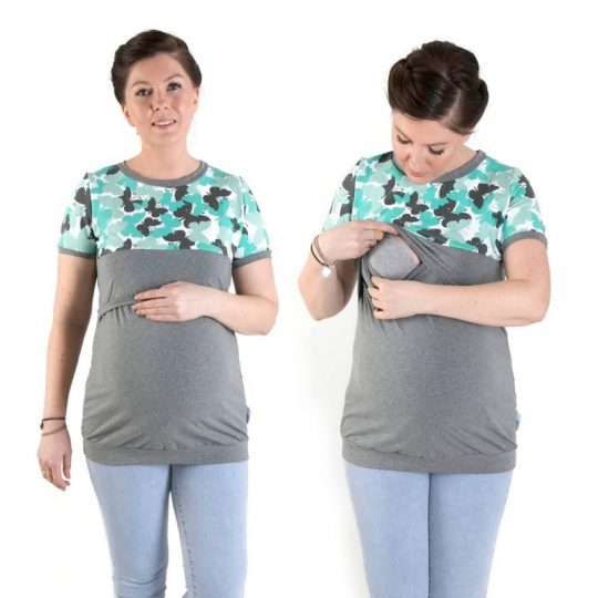 Camiseta embarazo/lactancia Anna - varios colores -