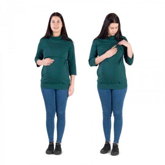 Camiseta 3 en 1 Embarazo/Lactancia Tola - Petrol Green -