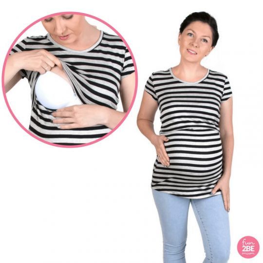 Camiseta embarazo/lactancia M/C - Chloe -