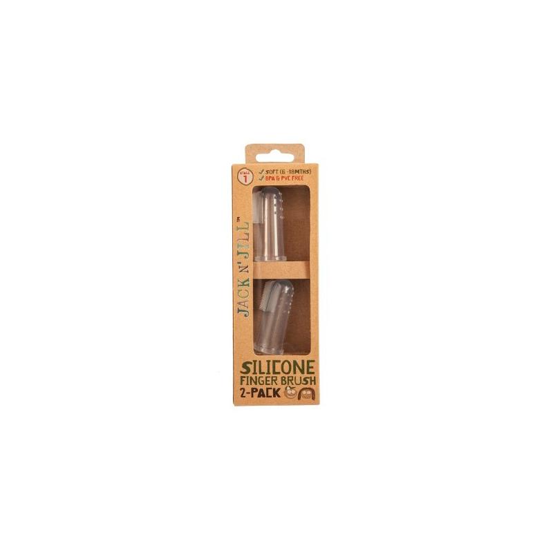 Cepillo de dedo Jack & Jill (pack 2) (6 a 18 meses)