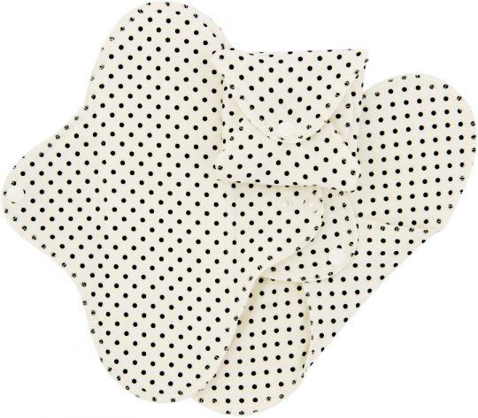 Compresas de tela Salva Slips (Pack 3) - Lunares Negros -