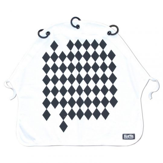 Cortina Kurtis - Arlequín black and white -
