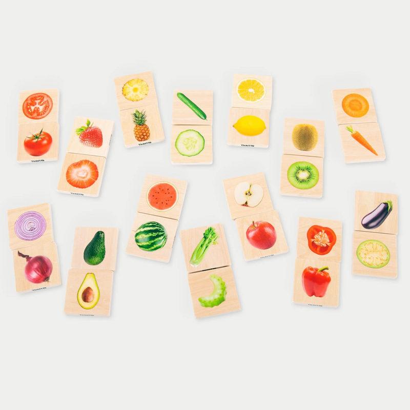 Dominó verduras y frutas reales - Tick It