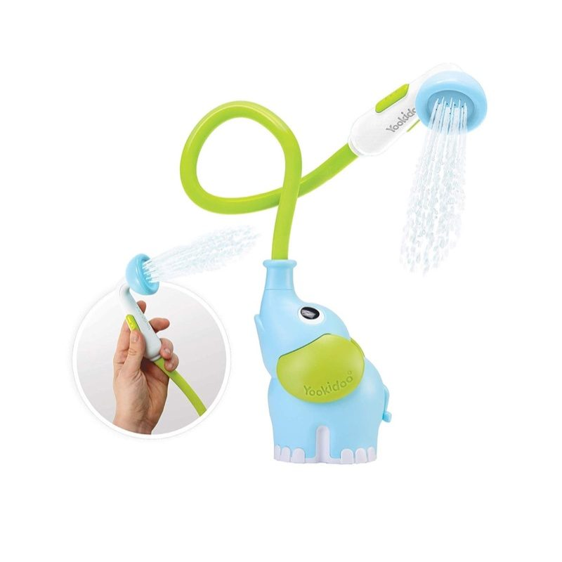 Ducha portátil de bañera Elefante azul, Yookidoo