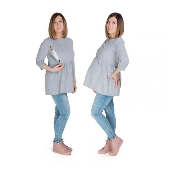 Jersey embarazo/lactancia Mama - Grey -