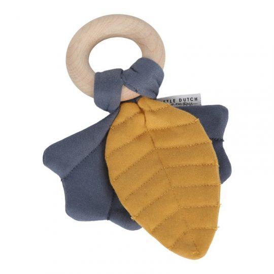 Juguete crujiente hoja pure&nature Azul - Little dutch -