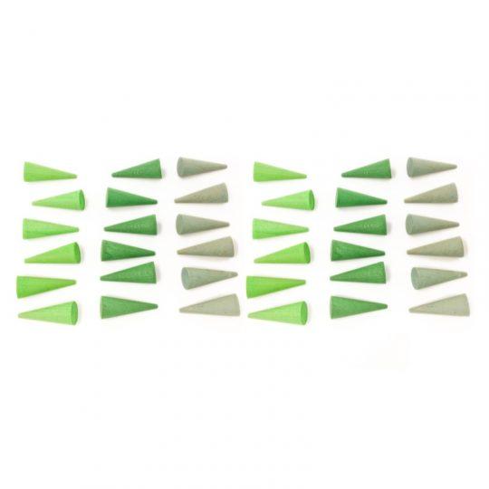 Mandala Pequeños Conos Verdes