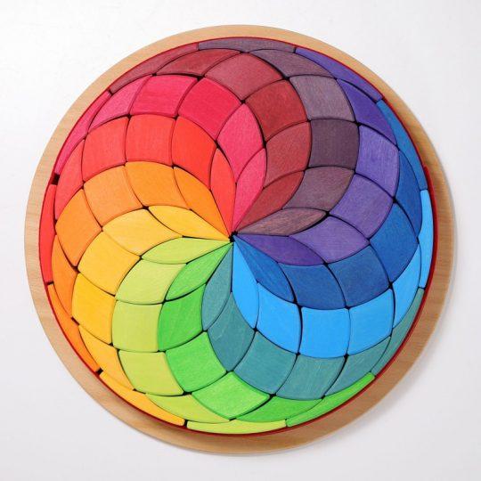 Puzzle de madera mandala espiral grande