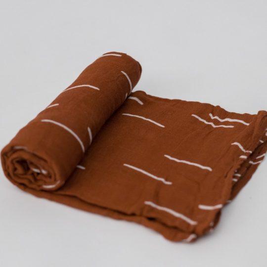 Muselina Bambú 120x120 - Baked Clay -
