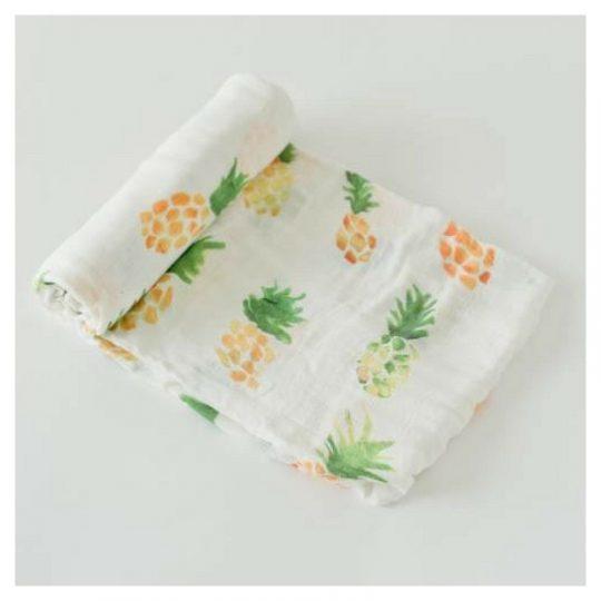 Muselina Bambú 120x120 - Pineapple -