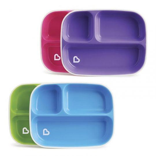 Pack platos con compartimentos antideslizantes Splash - varios colores -