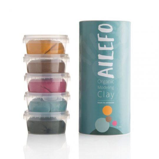 Plastilina orgánica 5 colores - 160 gr -