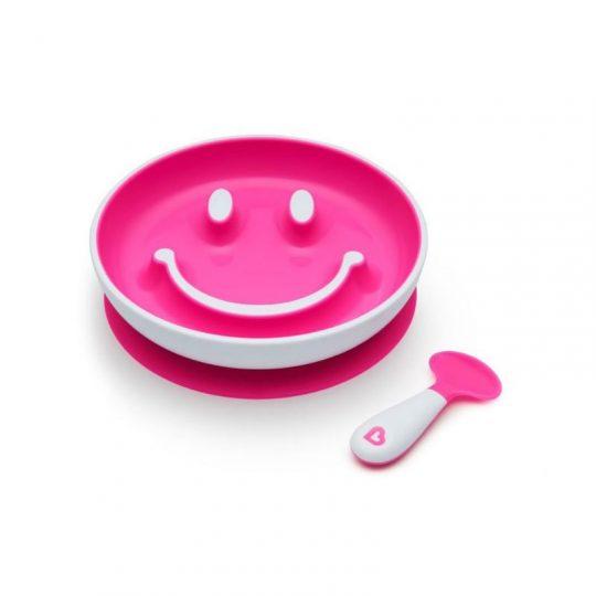 Juego plato con ventosa y cuchara de aprendizaje - Smile 'n Scoop - Varios colores