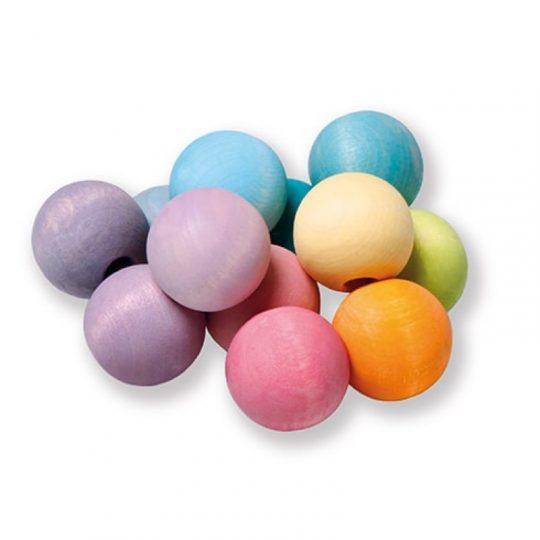 Pulsera de bolas de colores pastel