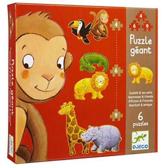 Puzzle Evolutivo Ouistiti y sus amigos