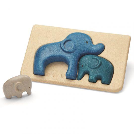Puzzle encajable familia de elefantes Plan Toys