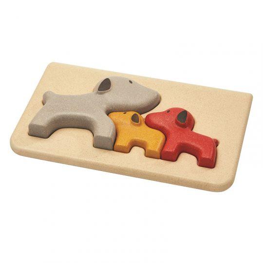 Puzzle encajable familia de perritos Plan Toys