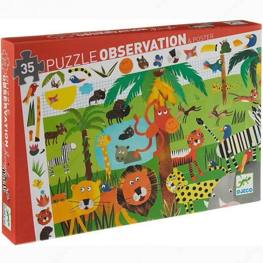 Puzzle Observación Jungla - 35 piezas -