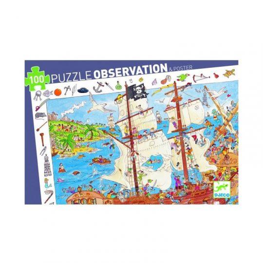 Puzzle Observación Piratas - 100 piezas -