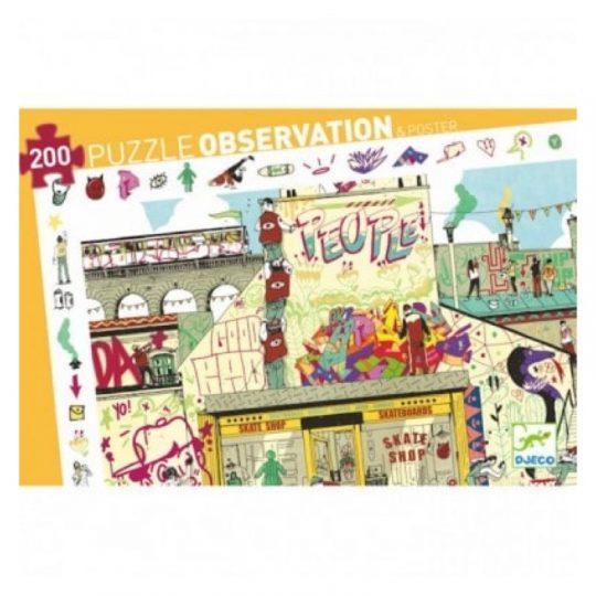 Puzzle Observación Street Art - 200 piezas -