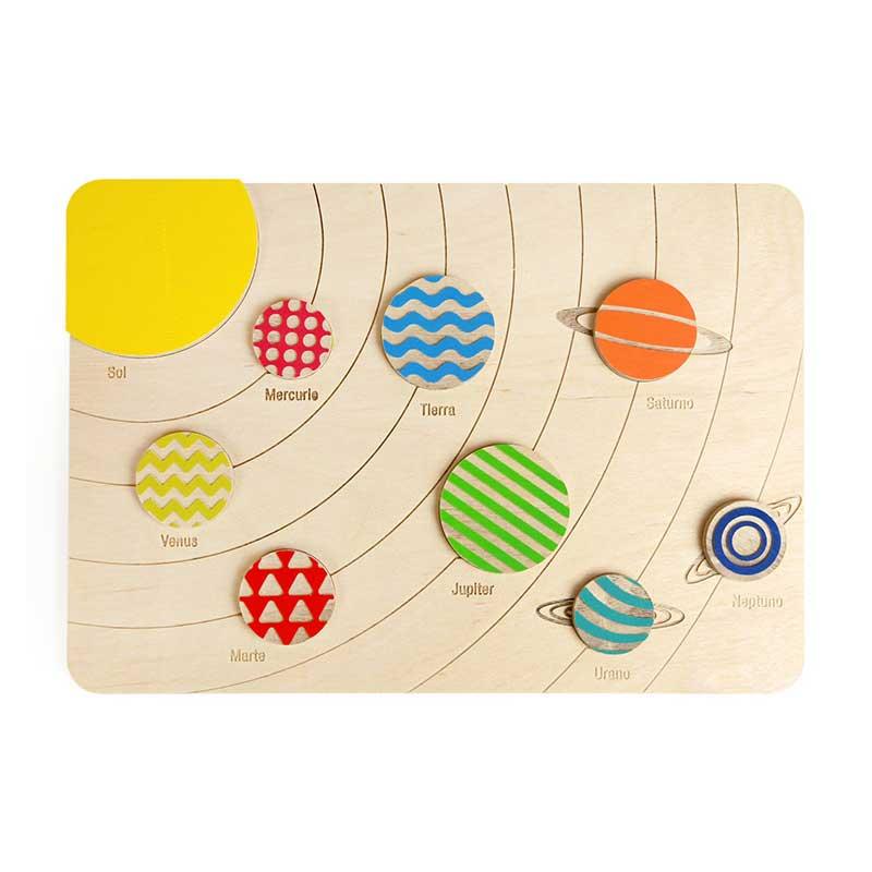 Sistema solar de madera Fizz