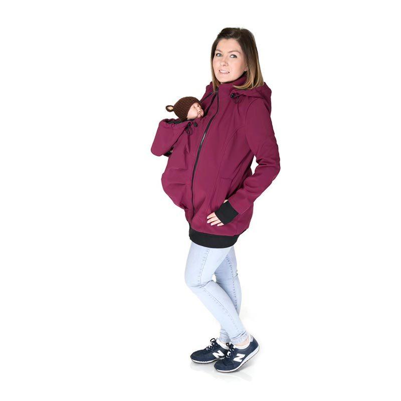 Abrigo de porteo y embarazo 3 en 1. Everest Softshell - varios colores -