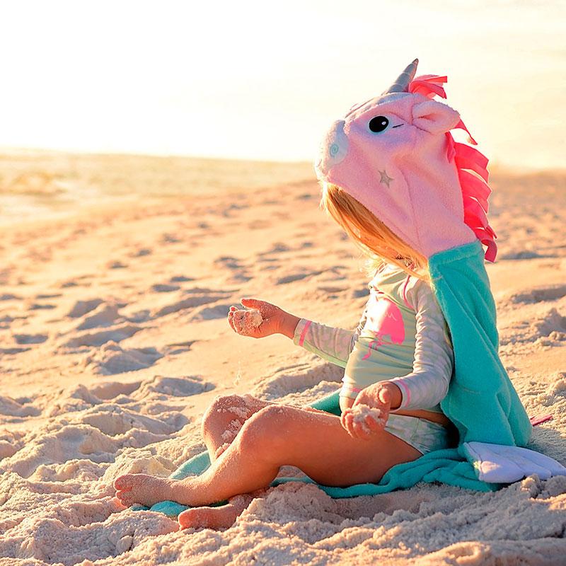 Toalla-Disfraz Niño/a - Allie el Unicornio -