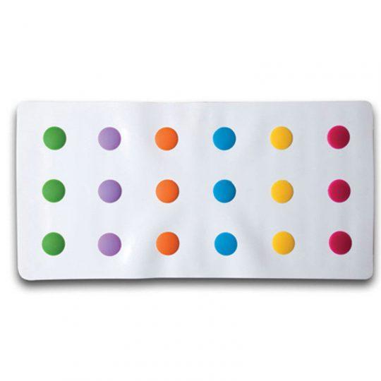Alfombrilla bañera antideslizante - Lunares multicolor -