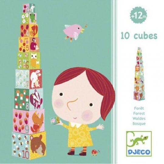 Apilable 10 Cubos Bosque