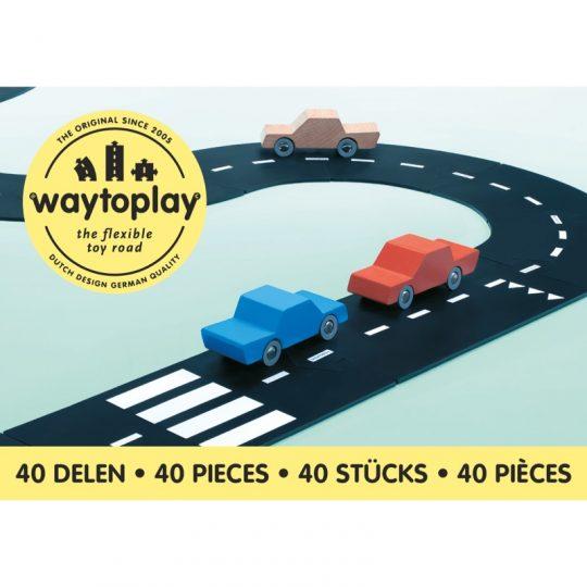 Carretera flexible de caucho Way To Play - 40 piezas -
