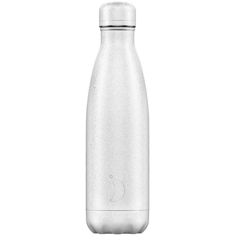 Botella Chilly's Glitter Blanco 500ml - Monetes