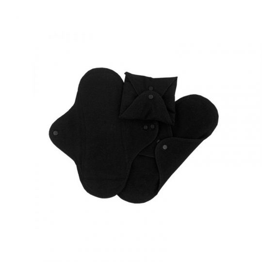 Compresas de tela Regular (Pack 3) - Negro -