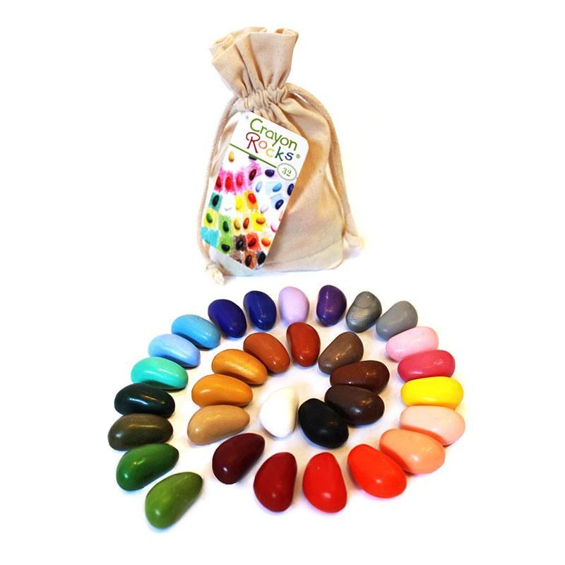 Bolsa de algodón con 32 Crayon Rocks