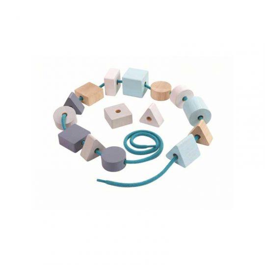 Cuentas para enlazar en color pastel Pan Toys
