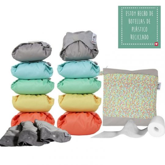 Pack 10 pañales Pop In Bambú Colores Pastel 2020