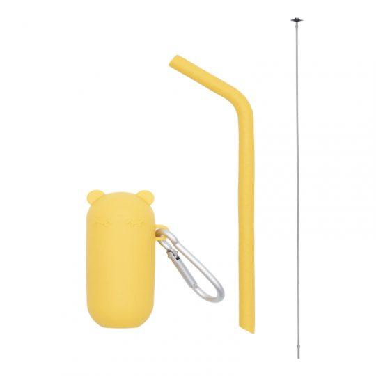 Pajita de silicona + cepillo limpiador