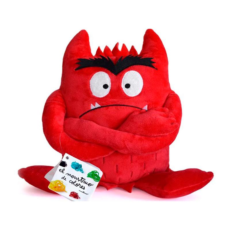 Peluche el Monstruo de Colores - Rojo -