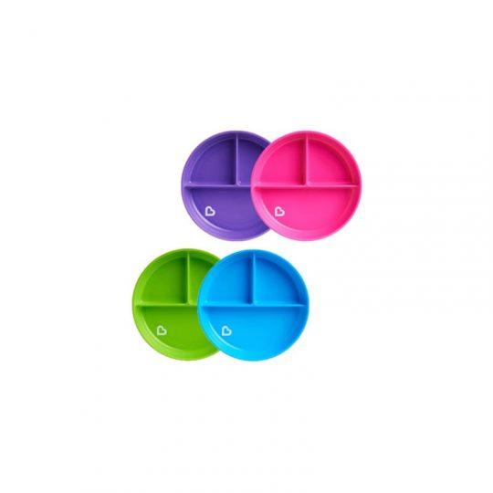 Plato infantil con compartimentos y ventosa antivuelco Stay Put - varios colores -