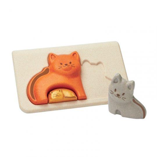 Puzzle encajable familia de gatitos Plan Toys