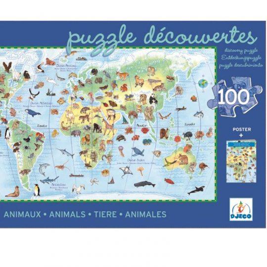 Puzzle Observación Los Animales del Mundo
