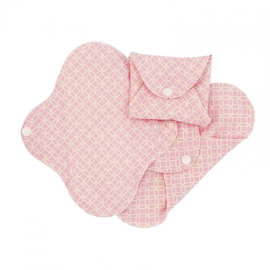 Compresas de tela Salva Slips (Pack 3) - Rosa Geometric -