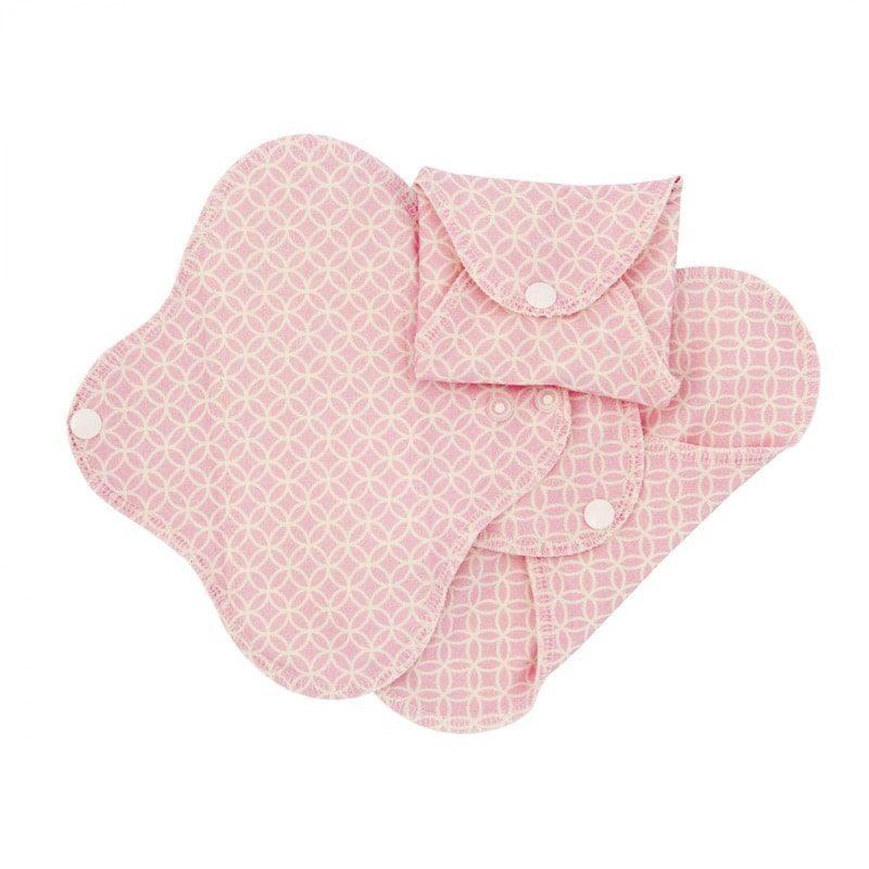 Compresas de tela Salva Slips (Pack 3) - Rosa Geometric - Monetes